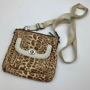 Coach Canvas Animal Print Crossbody Bag